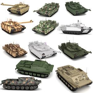 3D military tank