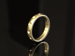 pattern band ring 3D model