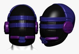 3D model mask helmet sculpt printable
