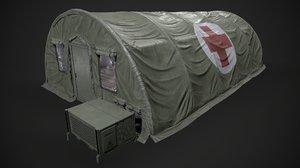 modern military tent enhanced 3D