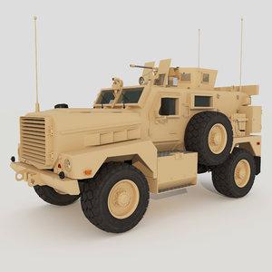 military mrap cougar interior 3D model