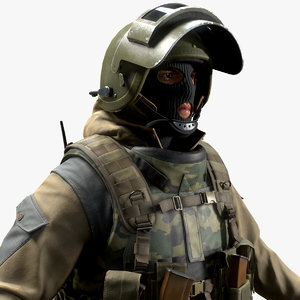 russian special force soldier 3D model
