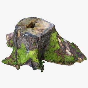 3D tree stump