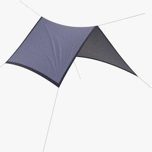 3D camping tarp