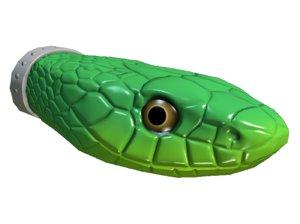 3D model snake head