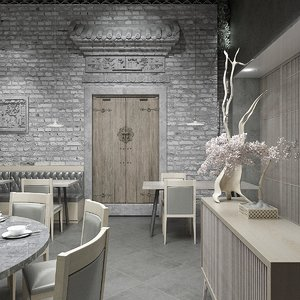 3D model canteen traditional rural chinese