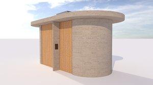public wc architectural model