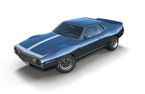 3D amc javelin 1971 model