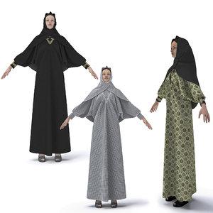 3D clothing arabic abaya