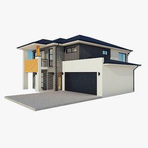 storey house 1 3D model