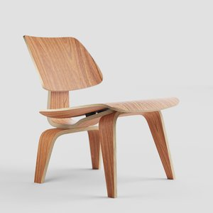 dining chair wood 3D model