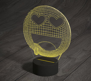 3D led smiley lamp