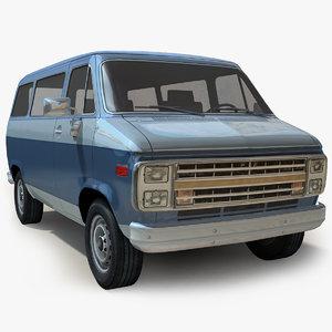 3D generic van trucks