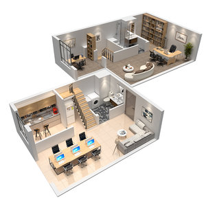duplex offical apartment model