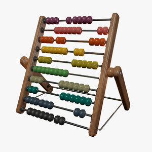kids toys abacus 3D model