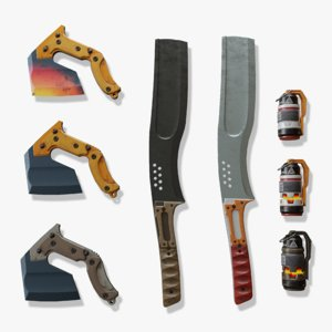 3D tactical weapons knife model