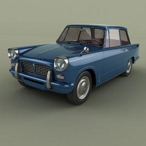 1963 triumph herald 1200 3D model