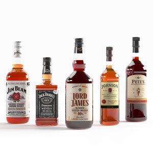 bottles 5 set 3D model