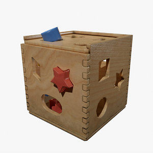 kids toys shapes 3D model
