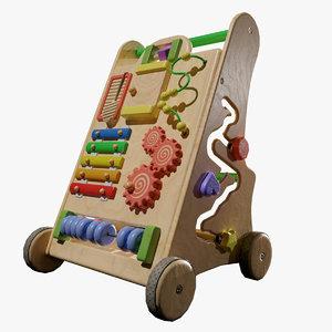 3D kids toys pusher model