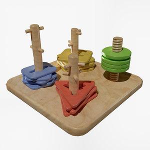 kids toys square 3D model