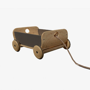 3D kids toys wagon model