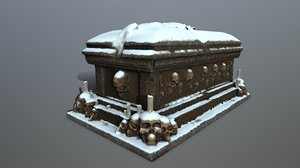 3D tomb candle