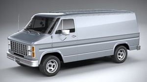 3D generic american van