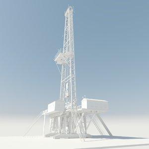 rig gas platform 3D model