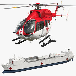 hospital ship medical helicopter model