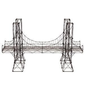 3D brooklyn wire bridge