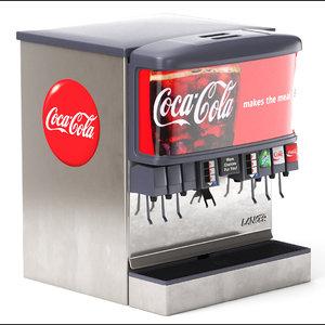 3D model 12 flavor ice beverage