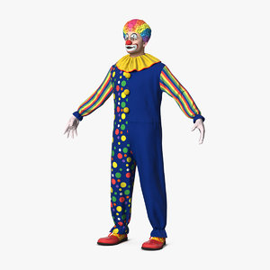 clown costume 3D model