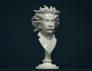 einstein bust 3D model