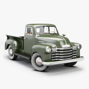 3D 1951 chevrolet pickup 3100 model