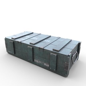 3D model ammo crate03
