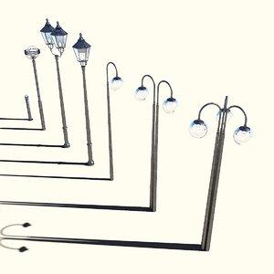 3D street lamps exterior architecture