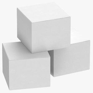 cardboard box set 01 3D model
