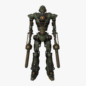 3D sci-fi military soldier mech model