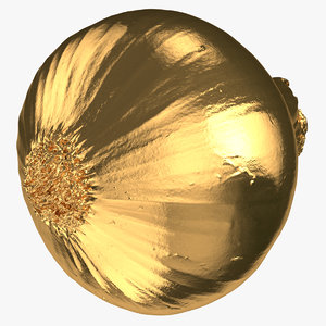 onion yellow 02 gold 3D model