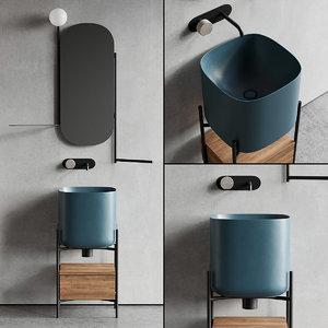 floor-standing vanity diva unit model