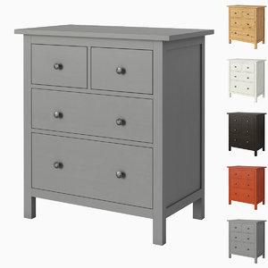 ikea hemnes 4-drawer chest 3D model