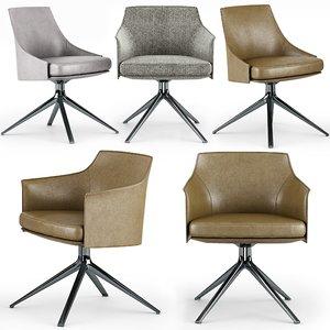 poliform stanford bridge chair 3D