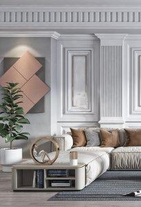 3D living room interiors