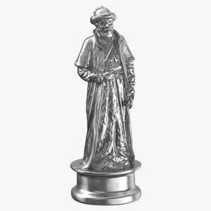 3D chess piece 01 bishop