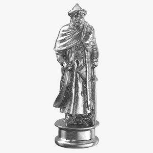 chess piece 01 king 3D model