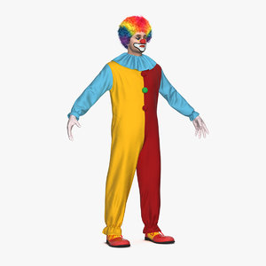 clown suit fur model