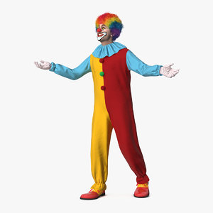 clown suit rigged fur 3D model