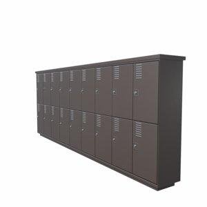 3D locker cabinet05 pbr low-poly model