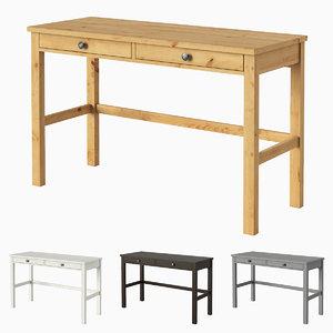 ikea hemnes desk 2 3D model